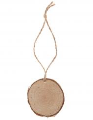 4 Marque-places rondin naturel avec cordon 4.5 x 11 cm