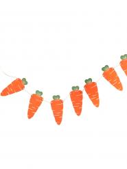 Guirlande en carton Carottes oranges 1,2 m