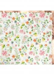 16 Petites serviettes en papier rose gold floral 25 x 25 cm
