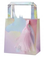 5 Sacs à cadeaux avec tassel Licorne iridescente 26 x 15 x 9 cm