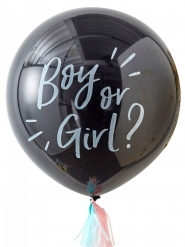 Ballon confettis Fille ou garçon 91 cm