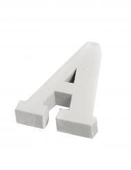 Petite lettre A en bois blanc 5 cm