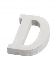 Petite lettre D en bois blanc 5 cm