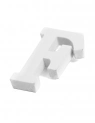 Petite lettre F en bois blanc 5 cm