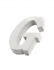 Petite lettre G en bois blanc 5 cm