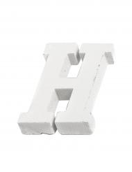 Petite lettre H en bois blanc 5 cm