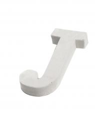 Petite lettre J en bois blanc 5 cm