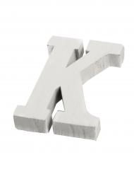 Petite lettre K en bois blanc 5 cm