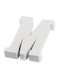 Petite lettre M en bois blanc 5 cm