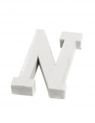 Petite lettre N en bois blanc 5 cm