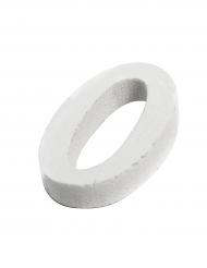Petite lettre O en bois blanc 5 cm