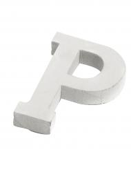 Petite lettre P en bois blanc 5 cm