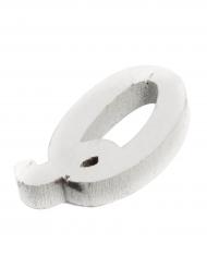 Petite lettre Q en bois blanc 5 cm