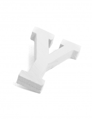 Petite lettre Y en bois blanc 5 cm