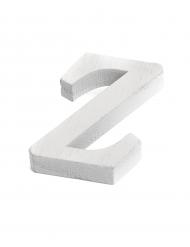 Petite lettre Z en bois blanc 5 cm