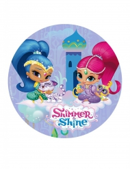 Disque en azyme Shimmer and Shine ™ bleu 20 cm