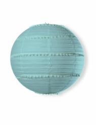 Lanterne avec pompons bleu ciel 35 cm