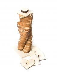 Livre d'or sur socle 80 coeurs en bois 7 cm
