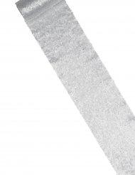 Chemin de table sequins argenté 14 cm x 3 m