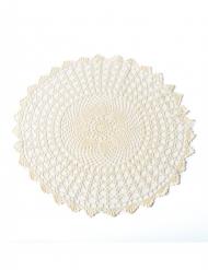 Napperon en crochet ivoire 50 cm
