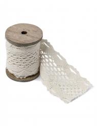 Ruban en dentelle blanc 8,3 cm x 3 m