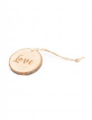 4 Rondins de bois Love avec ficelle 4 cm