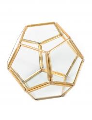 Terrarium La précieuse doré 12,5 x 10 cm