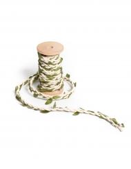 Ruban tressé en liane ivoire 5 mm x 2 m