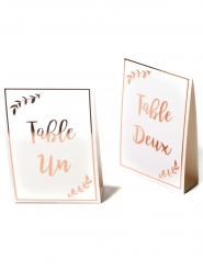10 Marque tables de 1 à 10 rose gold 16 x 10 cm