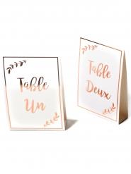 10 Marque tables de 1 à 10 rose gold 16 x 10 cm
