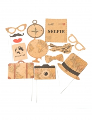 Kit Photobooth Voyage 13 accessoires