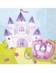 16 Serviettes en papier Princesse Magique 33 x 33 cm