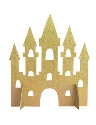 Centre de table Château de Princesse doré pailleté 35 cm