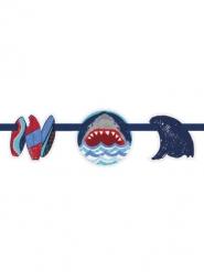 Guirlande en carton fanions Attaque de Requins 2,74 m