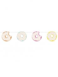 Guirlande en carton Donuts multicolore 2,74 m