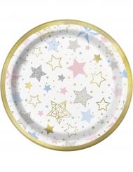 8 Petites assiettes en carton Twinkle Twinkle Little Star 18 cm