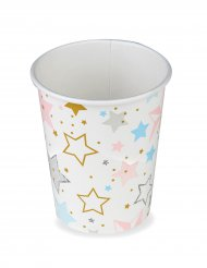 8 Gobelets en carton Twinkle Twinkle Little Star 266 ml