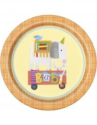 8 Assiettes en carton Petit Cirque 23 cm