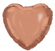 Ballon aluminium en forme de Cœur rose gold 45 cm