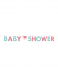 Guirlande en carton Baby Shower rose et bleu 1,7 m
