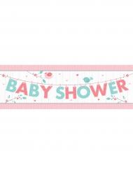 Bannière en papier Baby Shower rose et bleu 152 cm