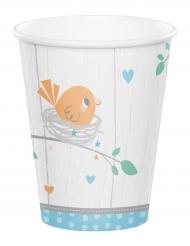 12 Gobelets en carton Hello Baby bleu 256 ml