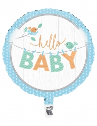 Ballon aluminium Hello Baby bleu 46 cm