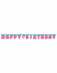 Bannière en papier Happy Birthday Junk Food 3 m