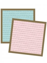 24 Petites serviettes en papier Géométrique 25 x 25 cm
