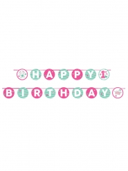 Guirlande en carton 1er anniversaire rose 240 cm