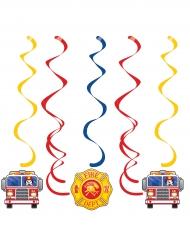 5 Suspensions Camion de Pompier 99 cm