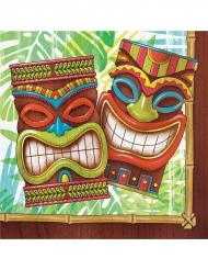 16 Serviettes en papier Tiki Hawai 33 x 33 cm