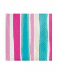 24 Petites serviettes en papier Tropical Flamingo 25 x 25 cm