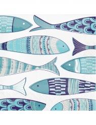 16 Serviettes en papier Méditerranée 33 x 33 cm